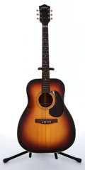 Musical Instruments:Acoustic Guitars, 1968 Gretsch 6002 Sunburst Acoustic Guitar, # N/A....