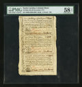 Colonial Notes:North Carolina, North Carolina December, 1771 2s6d House, £1, 10s Sheet of ThreePMG Choice About Unc 58 EPQ.. ... (Total: 1 sheet)