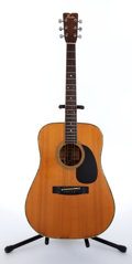 Musical Instruments:Acoustic Guitars, 1970's Fender F-65 Natural Acoustic Guitar #921015....