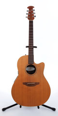 Musical Instruments:Acoustic Guitars, 1998 Ovation S-861 Standard Balladeer Natural Electric AcousticGuitar, #533144....