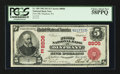 National Bank Notes:Pennsylvania, Olyphant, PA - $5 1902 Red Seal Fr. 589 First NB Ch. # (E)8806. ...