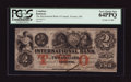 Canadian Currency: , Toronto, CW- International Bank of Canada $2 Sep. 15, 1858 Ch. 380-10-10-12a. ...
