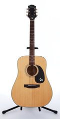 Musical Instruments:Acoustic Guitars, 1966 Epiphone FT-345 Natural Acoustic Guitar, #823326....