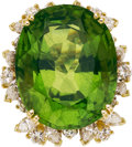 Estate Jewelry:Rings, Peridot, Diamond, Gold Ring, Julius Cohen. ...