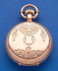 Timepieces:Pocket (pre 1900) , International Watch Co. Early Gold Pocket Watch, No. 14421. ...