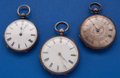 Timepieces:Pocket (pre 1900) , Three Swiss Silver Key Winds Pocket Watches. ... (Total: 3 Items)