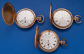 Timepieces:Pocket (post 1900), Three Waltham's Gold Filled Hunter's Cases Pocket Watches Runners.... (Total: 3 Items)