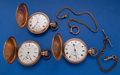 Timepieces:Pocket (post 1900), Three 16 Size Hunter's Cases Pocket Watches Runners. ... (Total: 3Items)