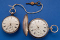 Timepieces:Pocket (pre 1900) , Two English Lever Fusee Sterling Cases Pocket Watches. ... (Total:2 Items)
