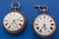 Timepieces:Pocket (pre 1900) , Two Sterling English Key Wind Pocket Watches. ... (Total: 2 Items)