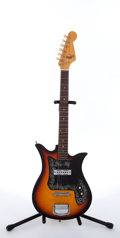 Musical Instruments:Electric Guitars, 1960's Teisco E-110 Sunburst Electric Guitar # 1815....