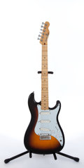 Musical Instruments:Electric Guitars, 1996 Squier By Fender Bullet Sunburst Electric Guitar #E608026...