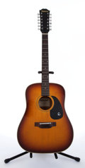 Musical Instruments:Acoustic Guitars, Epiphone FT-160 Texan Sunburst 12-String Acoustic Guitar#05780073....