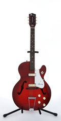 Musical Instruments:Electric Guitars, 1965 Harmony H-54 Rocket Red Archtop Electric Guitar #6755....