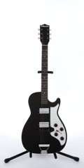 Musical Instruments:Electric Guitars, 1959 Silvertone 1327 Stratotone Black Electric Guitar # N/A...