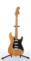 Musical Instruments:Electric Guitars, Vintage Fender Stratocaster Natural Electric Guitar # N/A...