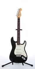 Musical Instruments:Electric Guitars, 1996 Fender Stratocaster Black Electric Guitar #N6170412....