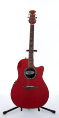 Musical Instruments:Acoustic Guitars, 1988 Applause By Ovation AE-28 Red Electric Acoustic Guitar#378001....