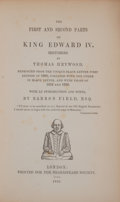 Books:First Editions, Thomas Heywood. The First and Second Parts of King EdwardIV....