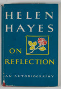 Books:First Editions, Helen Hayes. On Reflection. New York: M. Evans, [1968].First edition. Octavo. 253 pages. Publisher's binding an...