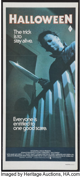 Halloween 1978 Movie Poster.Halloween Compass International 1978 Australian Daybill