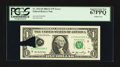 Error Notes:Printed Tears, Fr. 1933-H $1 2006 Federal Reserve Note. PCGS Superb Gem New67PPQ.. ...