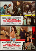 """Movie Posters:James Bond, Live and Let Die (United Artists, 1973). Italian Photobusta Set of 10 and Two Additional Photobustas (18"""" X 26.25""""). James B... (Total: 12 Items)"""