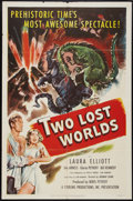 """Movie Posters:Science Fiction, Two Lost Worlds (Pathé, 1951). One Sheet (27"""" X 41""""). Science Fiction.. ..."""