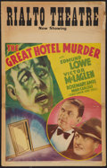 """Movie Posters:Mystery, The Great Hotel Murder (Fox, 1935). Window Card (14"""" X 22"""").Mystery.. ..."""