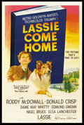 "Movie Posters:Adventure, Lassie Come Home (MGM, 1943). One Sheet (27"" X 41""). Adventure.. ..."