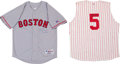 Baseball Collectibles:Uniforms, Johnny Bench and Jim Rice Signed Jerseys Lot of 2. ...