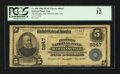 National Bank Notes:Virginia, Martinsville, VA - $5 1902 Plain Back Fr. 601 The Peoples NB Ch. #9847. ...