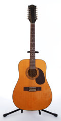Musical Instruments:Acoustic Guitars, Late 1960's Hofner 492 Natural 12-String Acoustic Guitar,#202115...