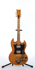 Musical Instruments:Electric Guitars, Mid 1970's Ampeg Super Stud GE-500 Natural Electric Guitar # N/A...