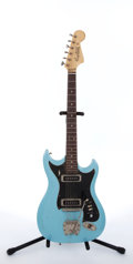 Musical Instruments:Electric Guitars, 1960's Hagstrom II Aqua Electric Guitar #674490...