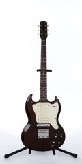 Musical Instruments:Electric Guitars, 1968 Gibson Melody Maker SG Walnut Electric Guitar # 520017...