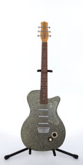 Musical Instruments:Electric Guitars, 2000's Danelectro U-3 '56 Reissue Black & Gold Electric Guitar#01990064...