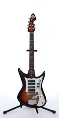 Musical Instruments:Electric Guitars, Late 1960's Teisco Del Ray 4 Pickups Sunburst Electric Guitar # N/A...
