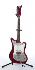 Musical Instruments:Electric Guitars, Vintage Greco Teisco Copy Red Electric Guitar # N/A...