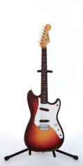 Musical Instruments:Electric Guitars, 1963 Fender Duo-Sonic Cherryburst Solid Body Electric Guitar,#L00263....