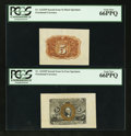 Fractional Currency:Second Issue, Fr. 1232SP 5¢ Second Issue Wide Margin Pair PCGS Gem New 66PPQ.. ... (Total: 2 notes)