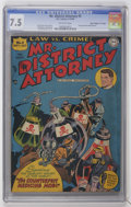 "Golden Age (1938-1955):Crime, Mr. District Attorney #5 Davis Crippen (""D"" Copy) pedigree (DC, 1948) CGC VF- 7.5 Off-white pages...."