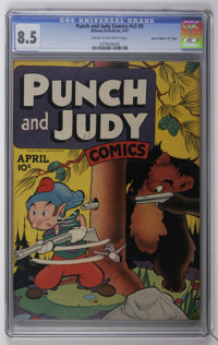 "Punch and Judy Comics V2#9 Davis Crippen (""D"" Copy) pedigree (Hillman Publications, 1947) CGC VF+ 8.5 Cream to..."