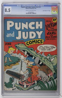 "Punch and Judy Comics V2#11 Davis Crippen (""D"" Copy) pedigree (Hillman Publications, 1947) CGC VF+ 8.5 Cream t..."