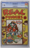 "Golden Age (1938-1955):Funny Animal, Real Funnies #1 Davis Crippen (""D"" Copy) pedigree (NedorPublications, 1943) CGC FN/VF 7.0 Cream to off-white pages...."