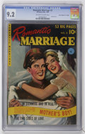 "Golden Age (1938-1955):Romance, Romantic Marriage #2 Davis Crippen (""D"" Copy) pedigree (Ziff-Davis,1950) CGC NM- 9.2 Off-white to white pages...."