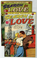 """Golden Age (1938-1955):Romance, Search For Love #1 and 2 Group - Davis Crippen (""""D"""" Copy) pedigree(ACG, 1949).... (Total: 2)"""