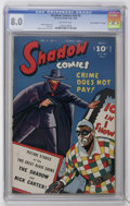 """Golden Age (1938-1955):Crime, Shadow Comics V6#5 Davis Crippen (""""D"""" Copy) pedigree (Street & Smith, 1946) CGC VF 8.0 Off-white pages...."""
