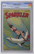 """Golden Age (1938-1955):Miscellaneous, Sparkler Comics #37 Davis Crippen (""""D"""" Copy) pedigree (United Features Syndicate, 1944) CGC VG/FN 5.0 Cream to off-white pages..."""