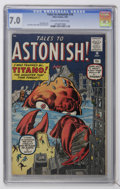 Silver Age (1956-1969):Mystery, Tales to Astonish #10 (Marvel, 1960) CGC FN/VF 7.0 Off-white towhite pages....